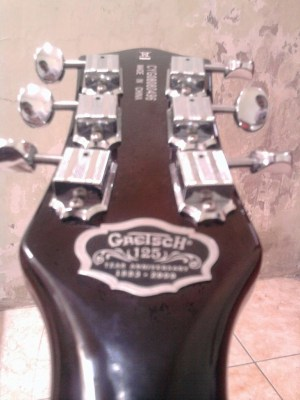 Gretsch 125th anniversary guitar logo headstocks
