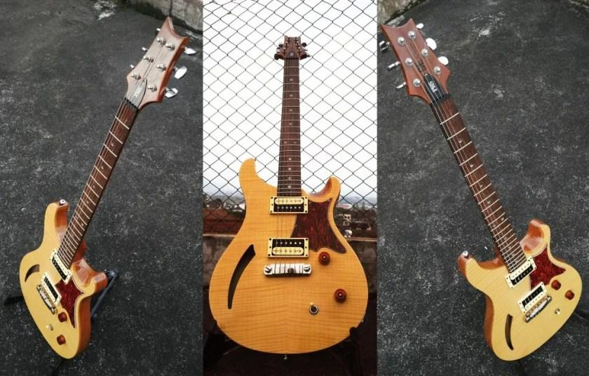 prs se custom 22 semi hollow electric guitar. Black Bedroom Furniture Sets. Home Design Ideas