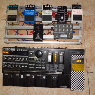 pedal board Aluminium DIY for analog effect pedals