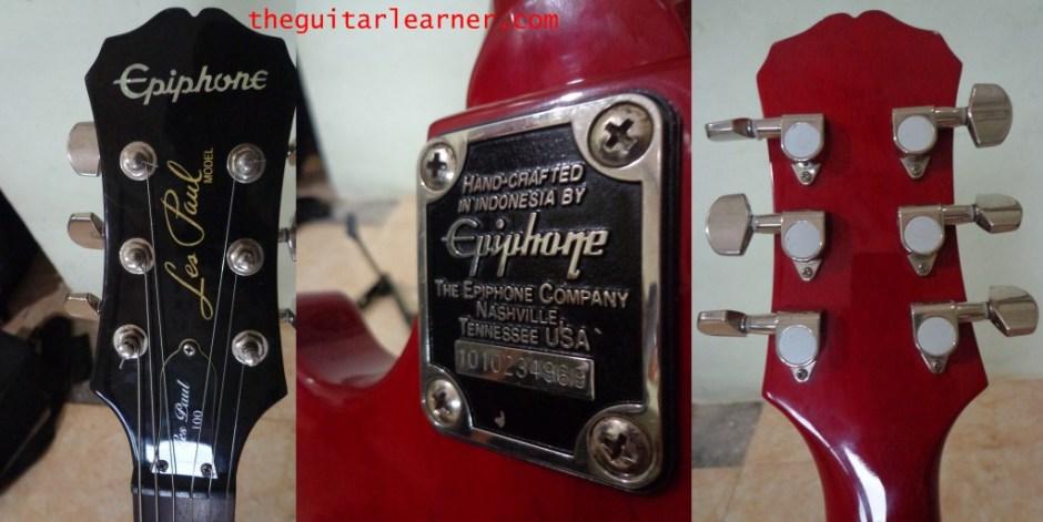 Epiphone Les Paul 100 (headstock backplate)