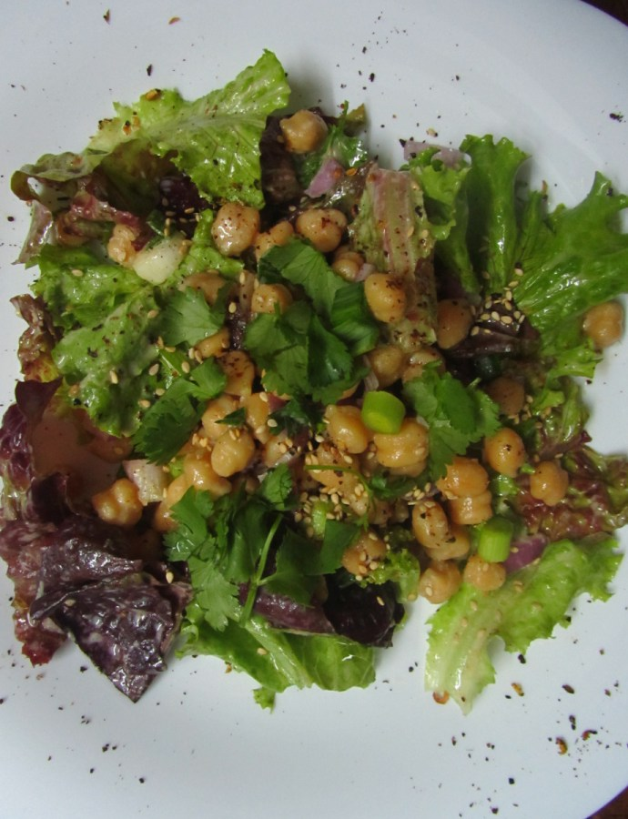 Chickpeas Salad with Nepali Flavor