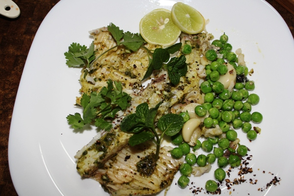Pan-fried Herb-marinated Fish