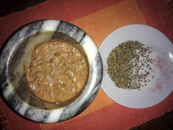 Bhang ra Golbheda ko Achaar (Hemp seed and Tomato Chutney)