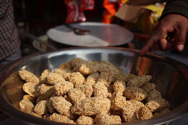 Tilauri: Delicacy for the festivals made from sesame seeds and molasses or jaggery.