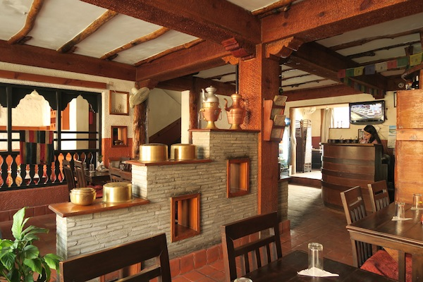 Interior design of the restaurant creates an ambience of a typical Thakali house