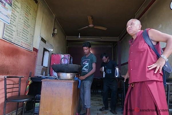 monk visits for muslim food