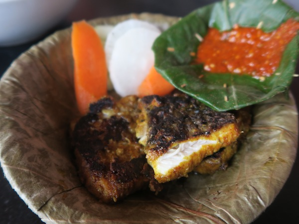 barbequed fish