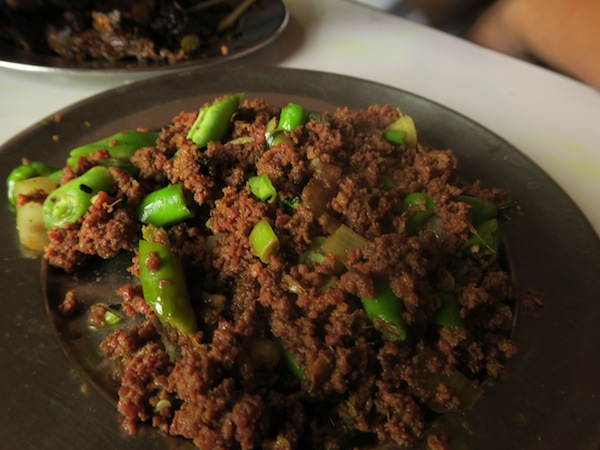 Minced meat with green beans