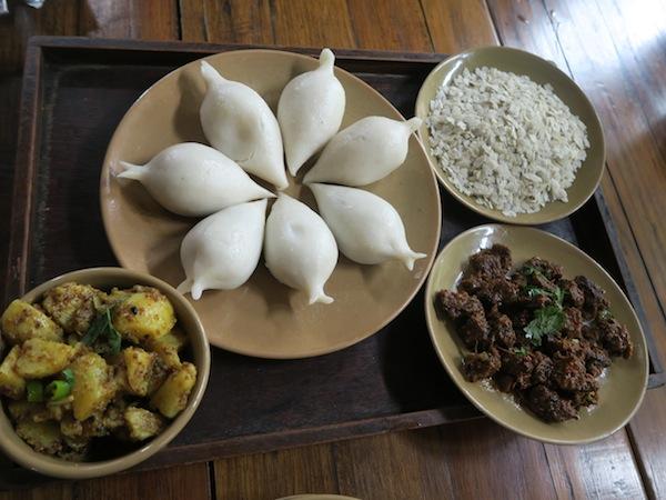 newari foods at the village cafe
