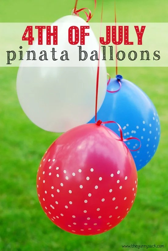 4th of July Pinata Balloons