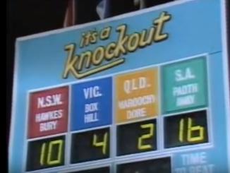 it's a knockout scoreboard