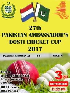 Pakistan Ambassador's Cricket Cup 2017 @ Voorburg CC,