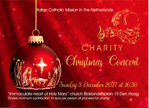The Italian Catholic Mission in The Netherlands: Charity Christmas Concert @ Marlotkerk
