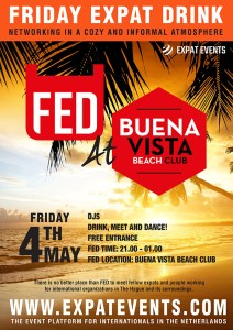 ED ' Drink and Dance at the Beach' Buena Vista Beach Club Scheveningen 4th of May