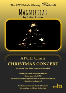 Christmas Concert 2018 by the American Protestant Church Choir