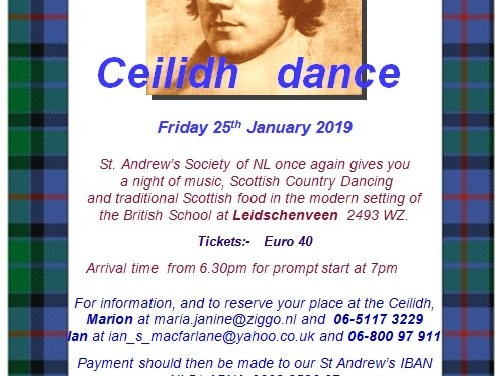 Burns Night with St Andrew's Society