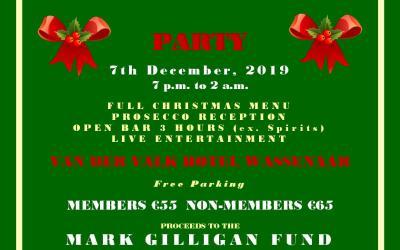 Irish Club Christmas Dinner Party 2019