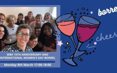 WBII 15th Anniversary and International Women's Day Borrel ONLINE