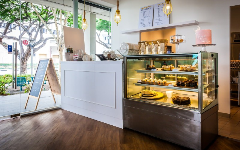 Ugly Cake Shop bakery cafe interior