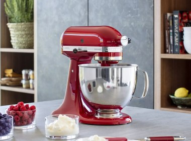 KitchenAid stand mixer in red