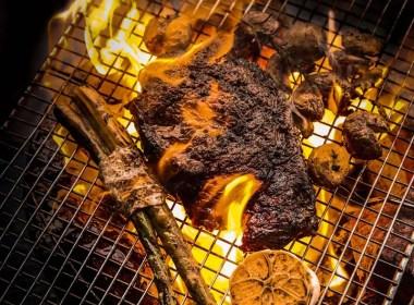 TSO woodfire smoked charcoal grilled Steak