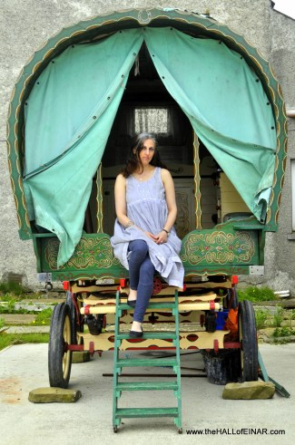 Alicen Geddes in her Gypsy caravan - alicen-geddes.co.uk