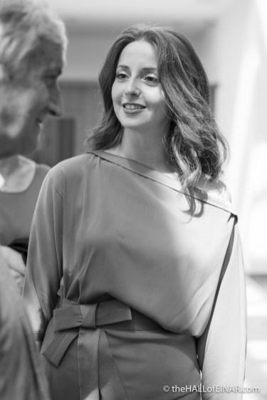 Inga Sempel - translator of Philip Paris's book The Italian Chapel - photograph (c) 2016 David Bailey (not the)