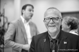 Andrew Drever - Chair of the Italian Chapel Preservation Committee and Orkney Islands Councillor - photograph (c) 2016 David Bailey (not the)