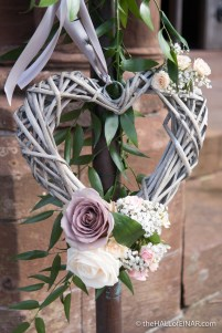 Flowers for a wedding at St Magnus Cathedral - photograph (c) 2016 David Bailey (not the)