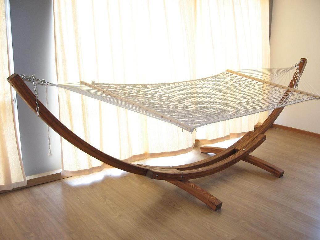 The Solution A Wooden Hammock Stand The Hammock Gazette