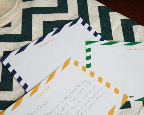 free striped notecards