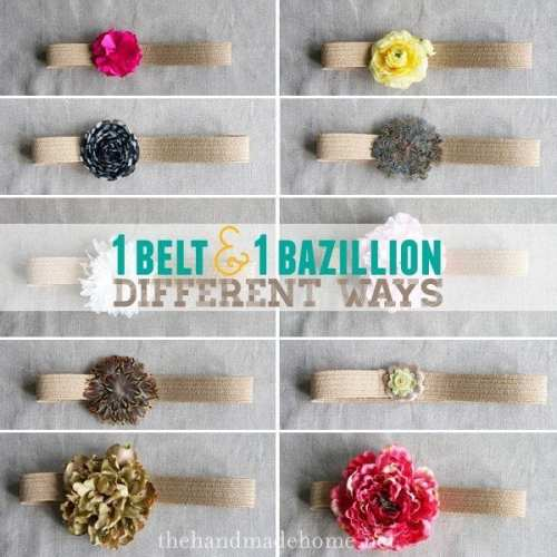 how to make a flower belt