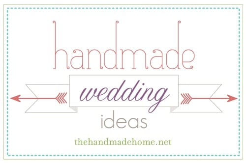 handmade wedding ideas : a few projects