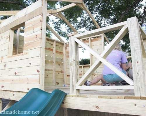 building a handmade hideaway : railings + shutters {how to build a fort}