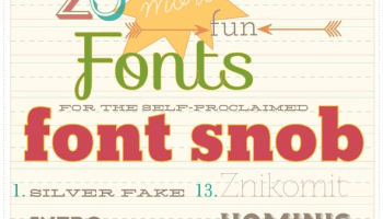 Fun Fonts - 25 Fun Fonts For Font Snobs! - The Handmade Home