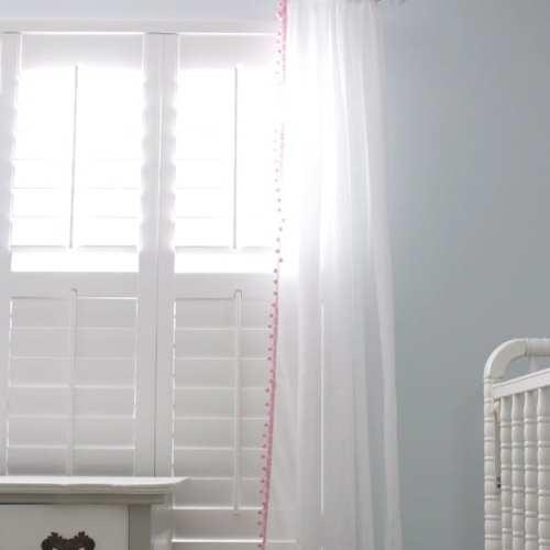 handmade nursery ideas : easy peasy curtains {how to sew trim on curtains}