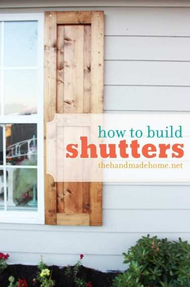 how to build shutters - simple project