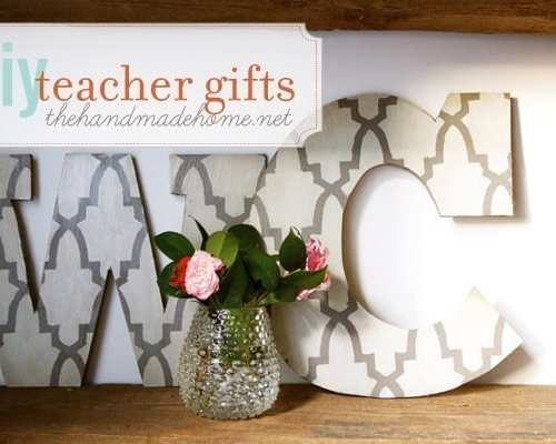 diy wall letters (handmade teacher gift ideas)