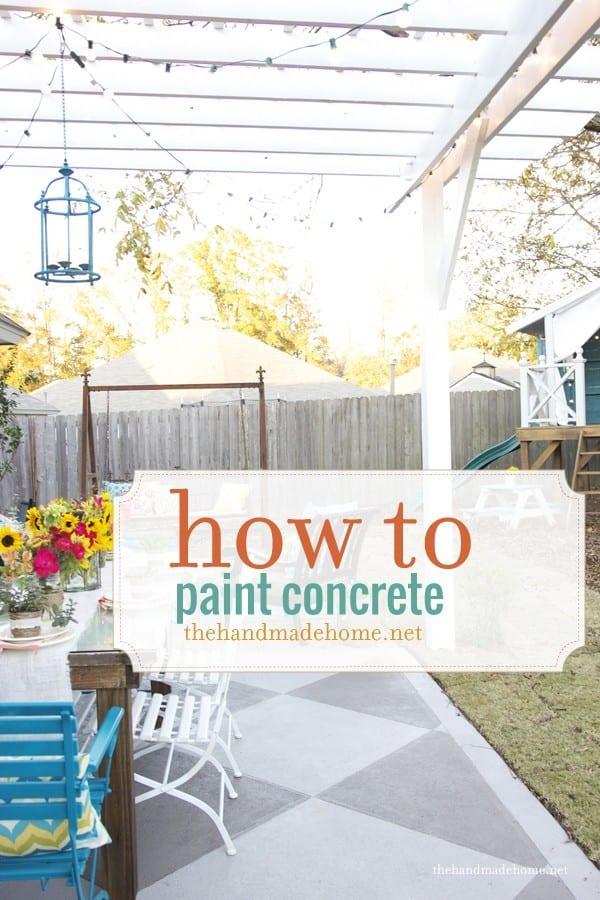 how to paint concrete