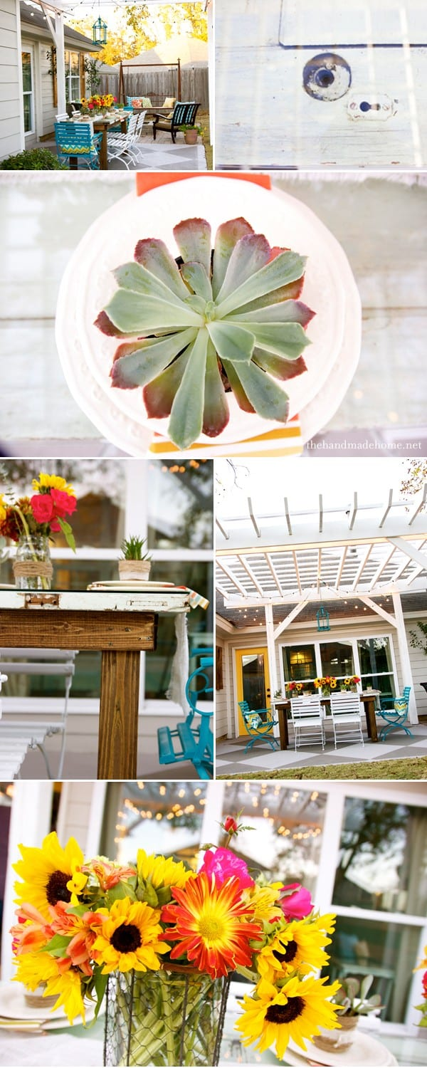 tips for creating an outdoor space - build a table