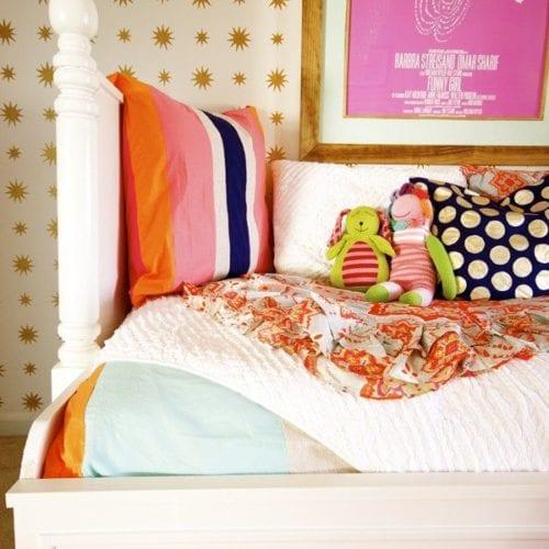 make your own polkadot pillow