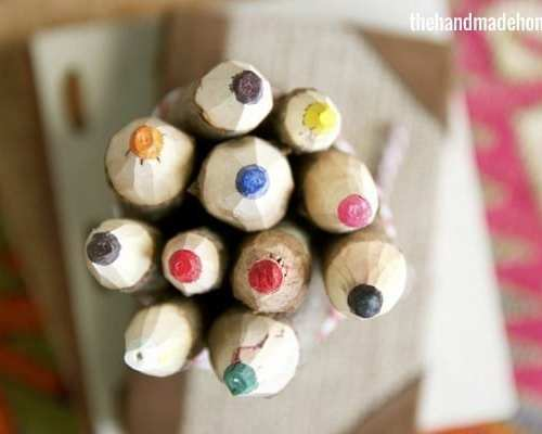 make your own tree branch crayons