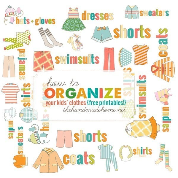 How To Organize Kids Clothing The Handmade Home