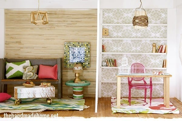 How To Make A Dollhouse Living Room Study Barbie Scale The
