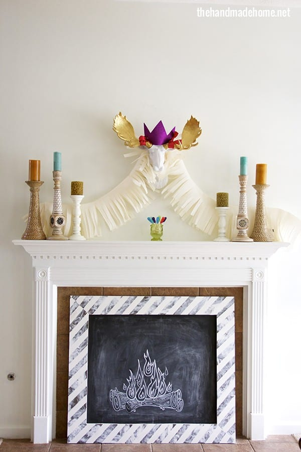 frozen_party_mantel_decor