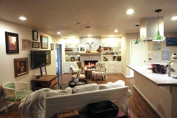 living-room1 & run to radiance: home tour - The Handmade Home