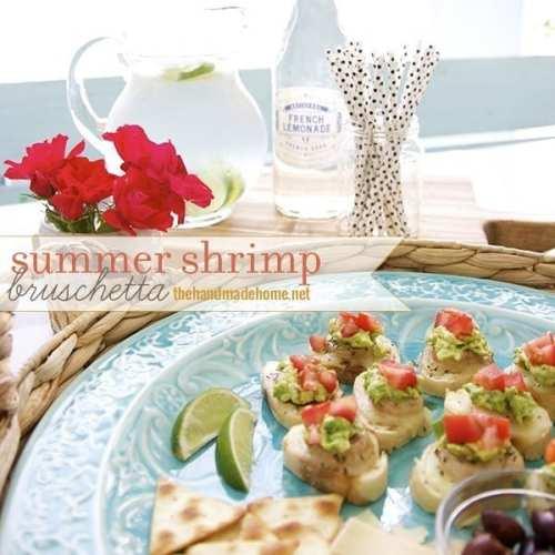 summer shrimp bruschetta