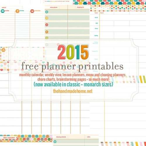 free planner and calendar + more {2015}
