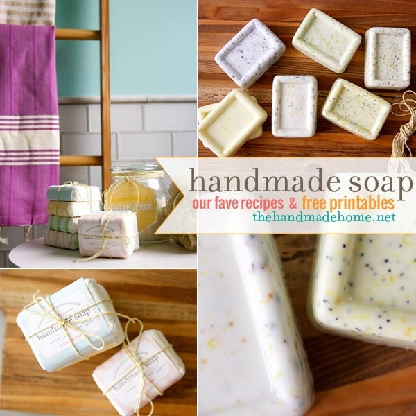 make your own soap {our fave recipes + free printables} -