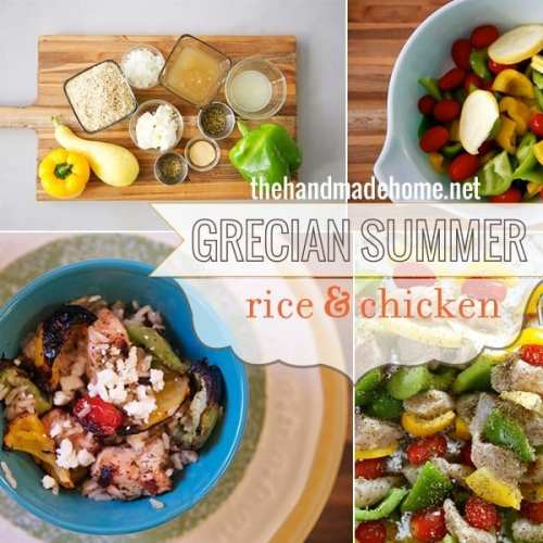 grecian summer rice and chicken